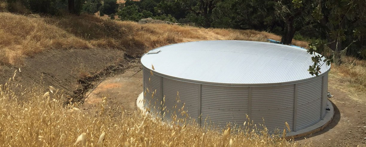 40,000 gallon well water tanks